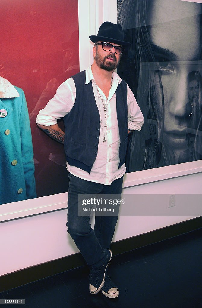 Musician Dave Stewart attends the opening of his photography exhibition 'Dave Stewart: Jumpin' Jack Flash & The Suicide Blonde' at Morrison Hotel Gallery on July 12, 2013 in West Hollywood, California.