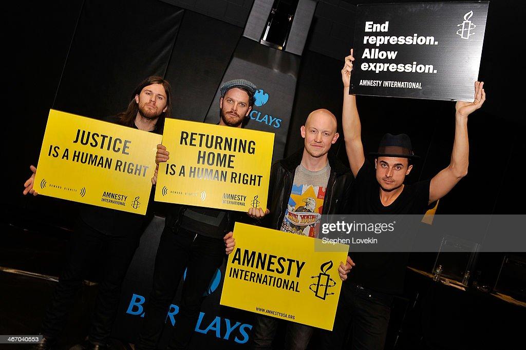 CBGB Festival Presents Amnesty International Concert At Barclay Center - Backstage