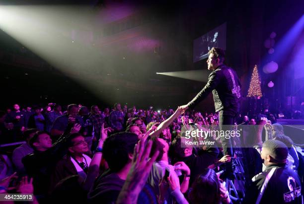 Musician Davey Havok of AFI performs onstage during The 24th Annual KROQ Almost Acoustic Christmas at The Shrine Auditorium on December 7 2013 in Los...