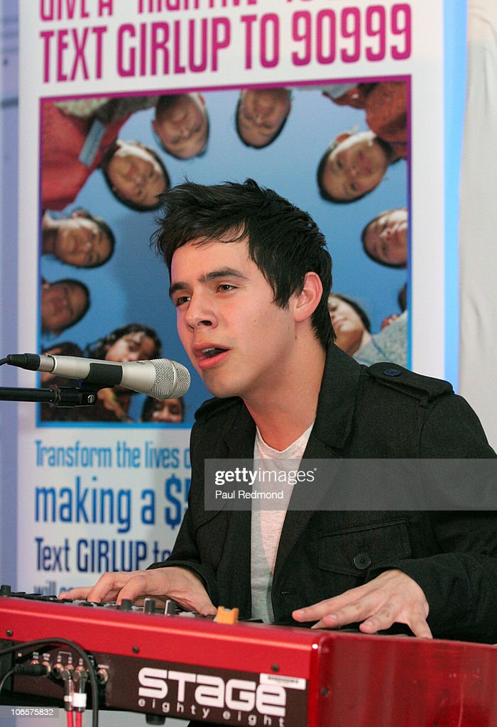 Musician David Archuleta performs at Variety's Girl Up Campaign Launch on November 4, 2010 in Los Angeles, California.