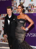 Musician David Bowie and Model Iman attend the 2010 CFDA Fashion Awards at Alice Tully Hall Lincoln Center on June 7 2010 in New York City