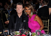Musician David Bowie and supermodel Iman attend the DKMS' 5th Annual Gala Linked Against Leukemia honoring Rihanna Michael Clinton hosted by...