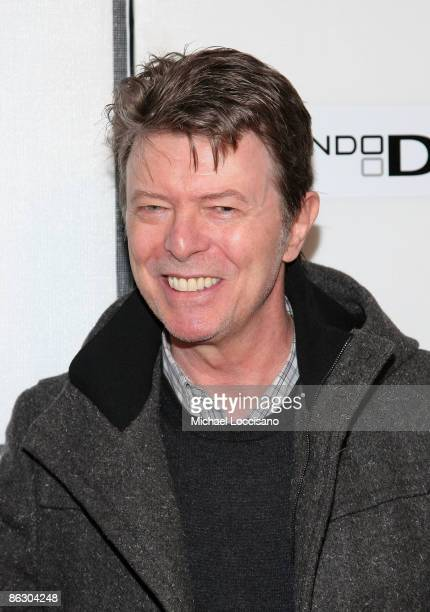Musician David Bowie attends the premiere of 'Moon' during the 2009 Tribeca Film Festival at BMCC Tribeca Performing Arts Center on April 30 2009 in...