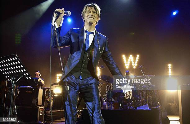 Musician David Bowie performes live on January 3rd 2002 at Hammersmith Apollo London