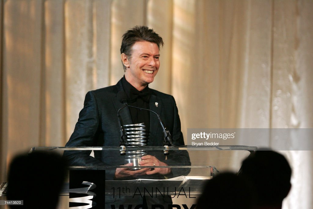 Musician David Bowie speaks onstage while accepting the Webby Lifetime Achievement award at the 11th Annual Webby Awards at Chipriani Wall Street on June 5, 2007 in New York City.