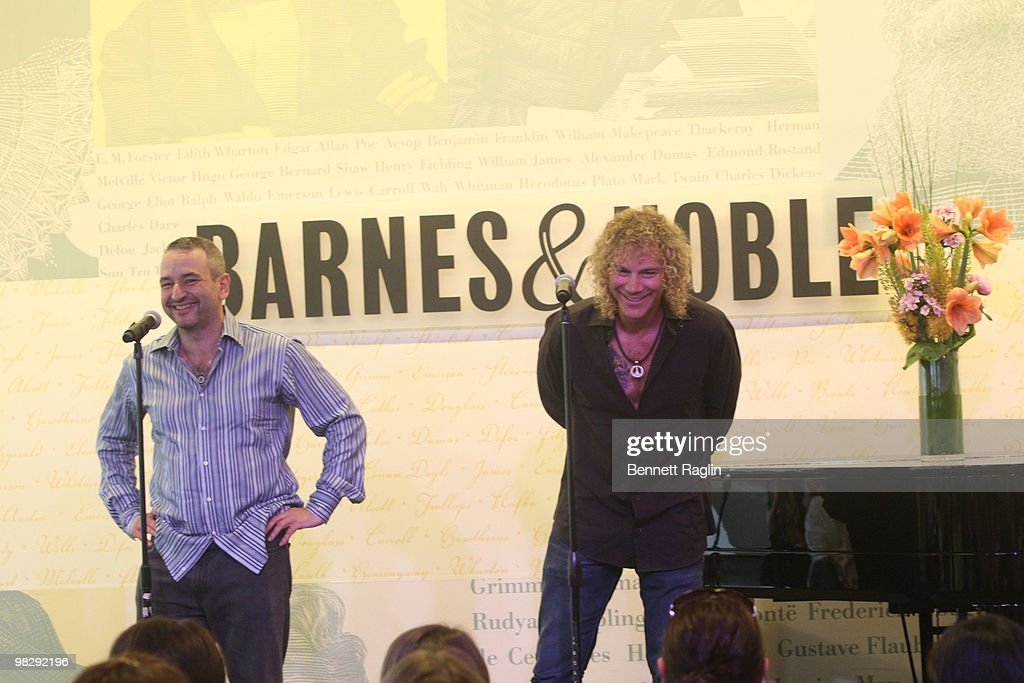 Musician David Bryan and playwright Joe DiPietro visit Barnes Noble Lincoln Triangle with the cast of 'Memphis' on April 6 2010 in New York City