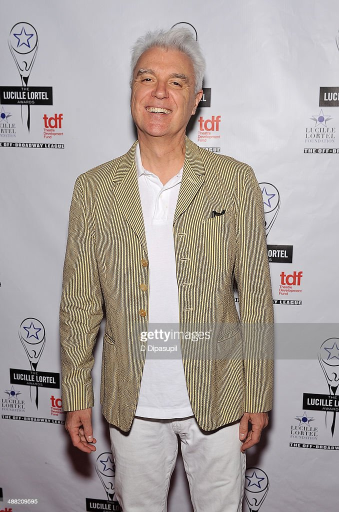 Musician <a gi-track='captionPersonalityLinkClicked' href=/galleries/search?phrase=David+Byrne&family=editorial&specificpeople=210852 ng-click='$event.stopPropagation()'>David Byrne</a> attends the 29th Annual Lucille Lortel Awards at NYU Skirball Center on May 4, 2014 in New York City.