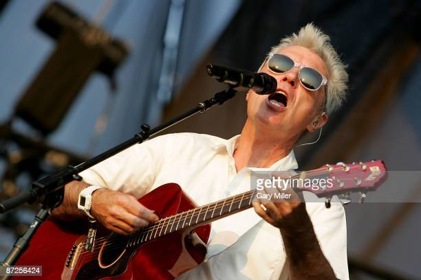 Musician David Byrne formerly of the Talking Heads performs in concert at the Austin City Limits music festival on September 26 2008 in Austin Texas