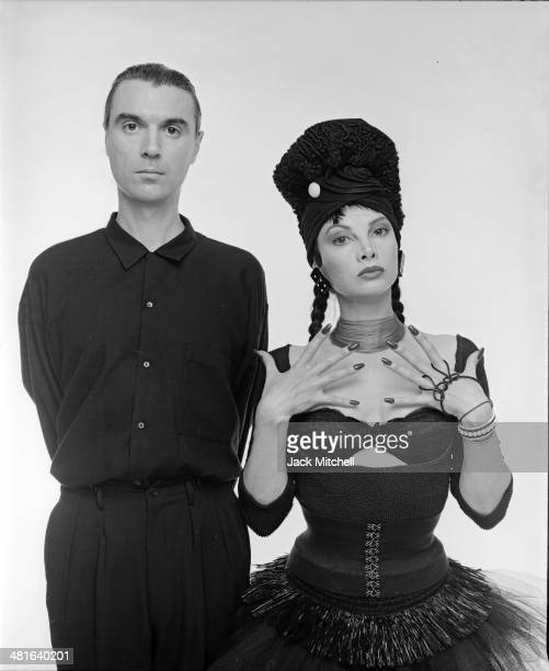 Musician David Byrne founding member and principal songwriter of the American New Wave band Talking Heads photographed in 1987 with singersongwriter...