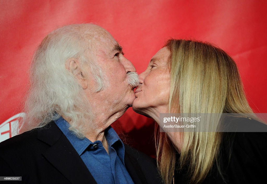 Musician David Crosby (L) and Jan Dance attend the 2014 MusiCares Person Of The Year honoring Carole King at Los Angeles Convention Center on January 24, 2014 in Los Angeles, California.
