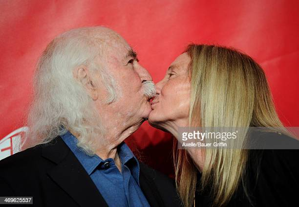 Musician David Crosby and Jan Dance attend the 2014 MusiCares Person Of The Year honoring Carole King at Los Angeles Convention Center on January 24...