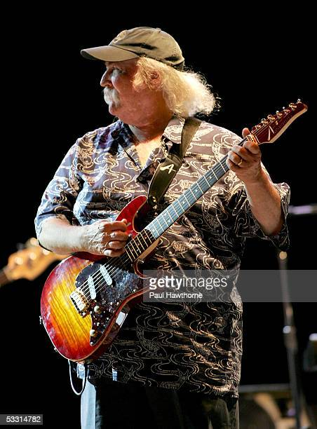 Musician David Crosby performs with Crosby Stills and Nash at the Beacon Theater August 1 2005 in New York City