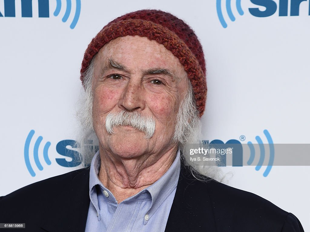 Musician David Crosby visits the SiriusXM studios for the 'John Fugelsang Interviews David Crosby' Event at SiriusXM Studios on October 28, 2016 in New York City.