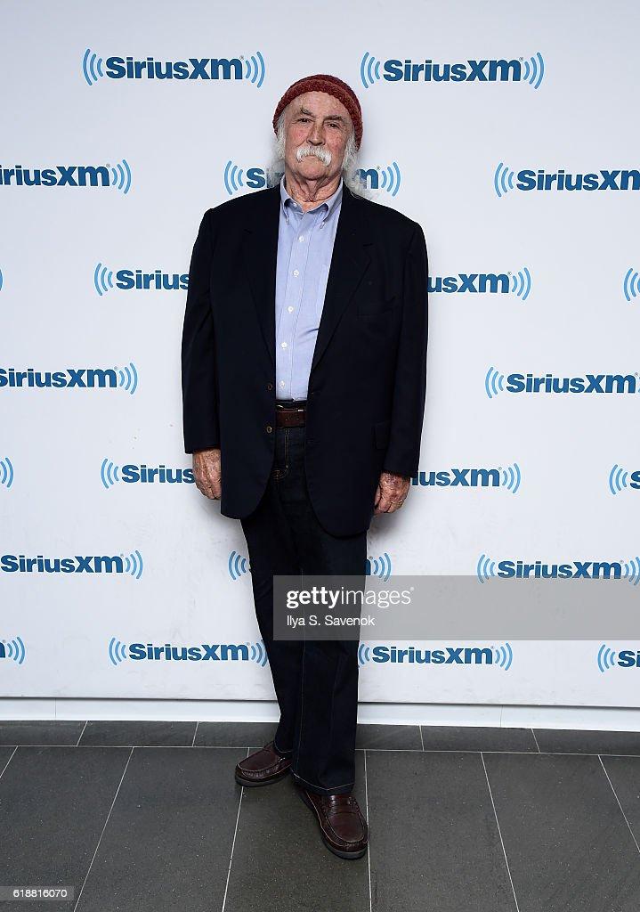 Musician David Crosby visits the SiriusXM studios for the 'John Fugelsang Interviews David Crosby' Event at SiriusXM Studios on October 28, 2016 in New York City.