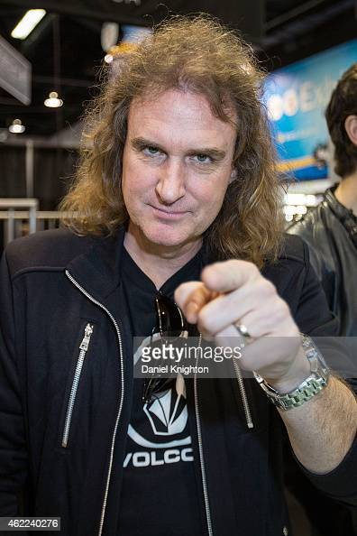 Musician David Ellefson of Megadeth appears at The NAMM Show on January 25 2015 in Anaheim California