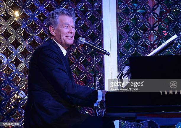 Musician David Foster performs at Goldie Hawn's inaugural 'Love In For Kids' benefiting the Hawn Foundation's MindUp program transforming children's...