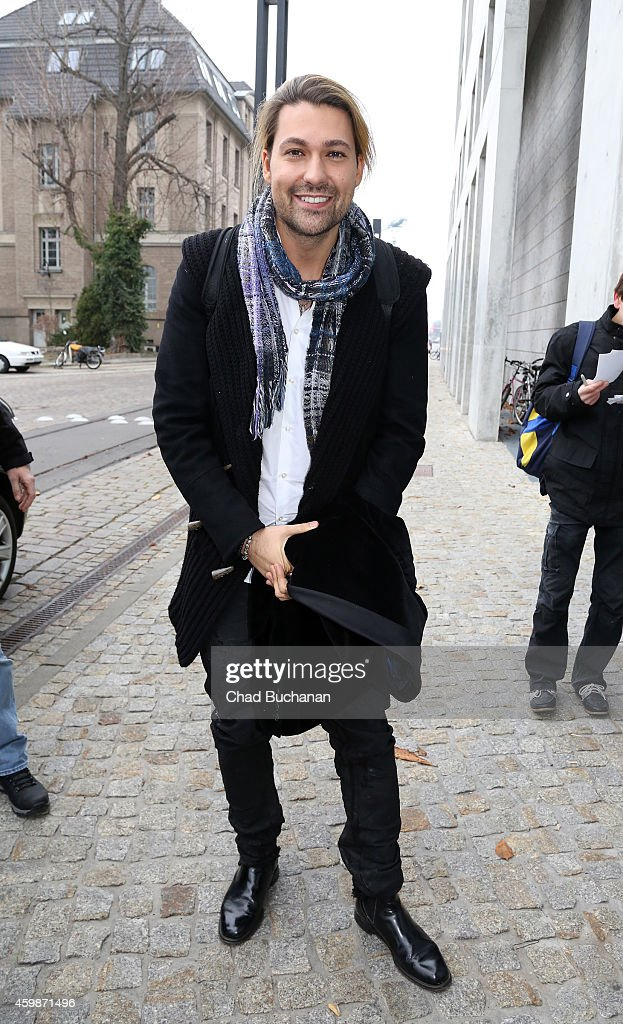 Musician <a gi-track='captionPersonalityLinkClicked' href=/galleries/search?phrase=David+Garrett&family=editorial&specificpeople=4603343 ng-click='$event.stopPropagation()'>David Garrett</a> sighted at SAT1 television studios on December 3, 2014 in Berlin, Germany.