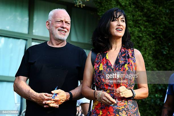Musician David Gilmour and writer Polly Samson attend the 'The Kindness' book presentation at Oltre Il Giardino July 1 2016 in Rome Italy