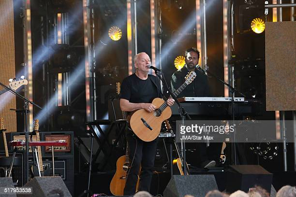 Musician David Gilmour is seen at 'Jimmy Kimmel Live' on March 28 2016 in Los Angeles California