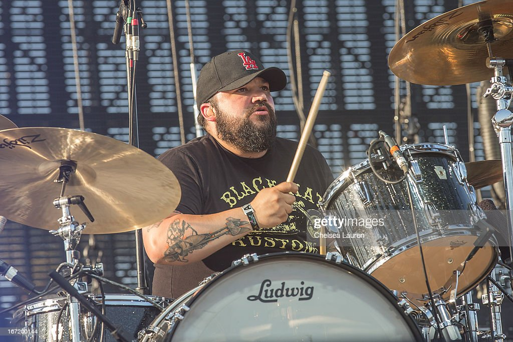 Musician David Hidalgo, Jr. of Social Distortion performs during the Coachella Valley Music & Arts Festival at The Empire Polo Club on April 21, 2013 in Indio, California.