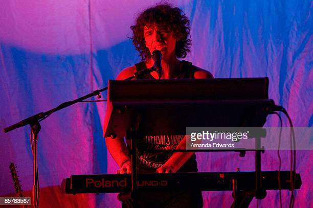 Musician David Price of Natalie Portman's Shaved Head opens for Lily Allen at the Wiltern Theatre on April 2 2009 in Los Angeles California