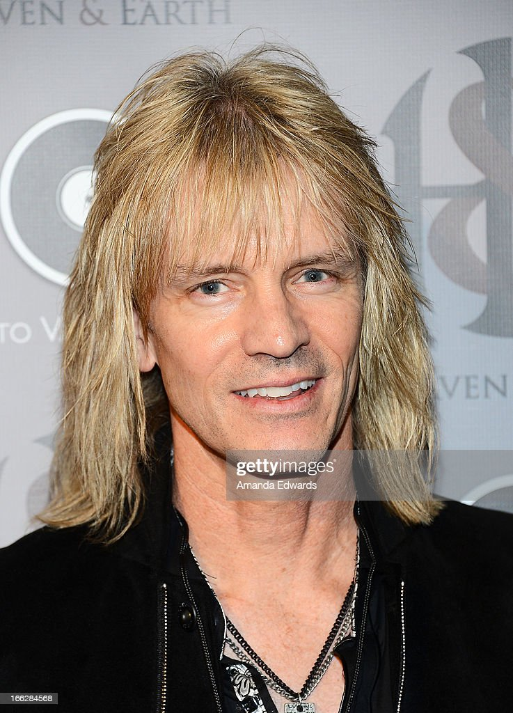 Musician David Victor arrives at the Heaven and Earth 'Dig' world premiere album release party at The Fonda Theatre on April 10, 2013 in Los Angeles, California.