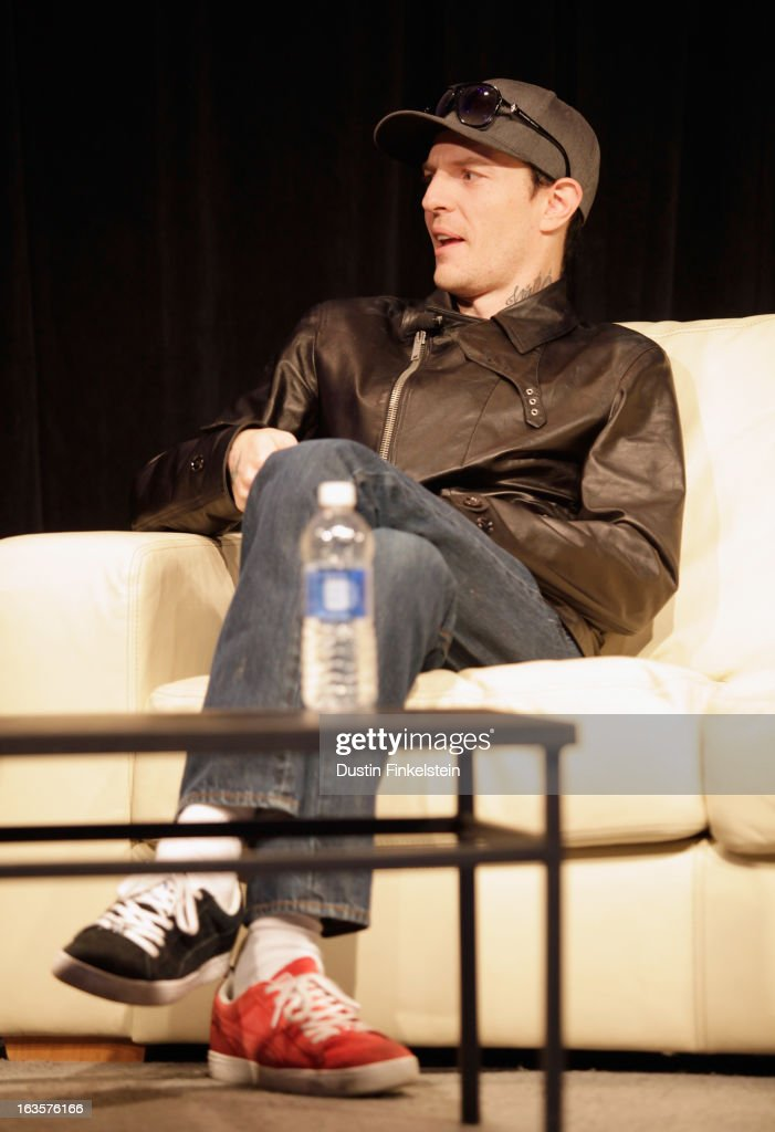 Musician deadmau5 speak onstage at <a gi-track='captionPersonalityLinkClicked' href=/galleries/search?phrase=Deadmau5&family=editorial&specificpeople=5701846 ng-click='$event.stopPropagation()'>Deadmau5</a> & Richie Hawtin: Talk. Techno. Technology. during the 2013 SXSW Music, Film + Interactive Festival at Austin Convention Center on March 12, 2013 in Austin, Texas.