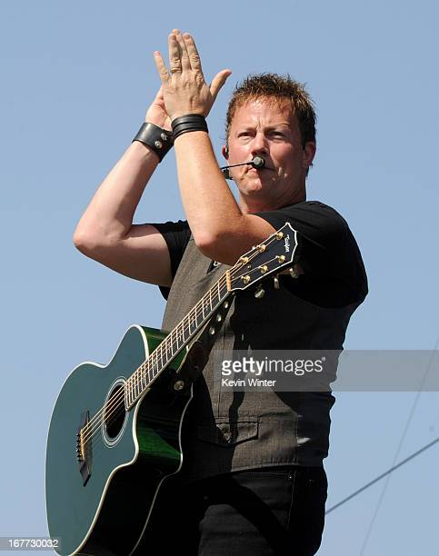 Musician Dean Sams of Lonestar performs onstage during 2013 Stagecoach California's Country Music Festival held at The Empire Polo Club on April 28...