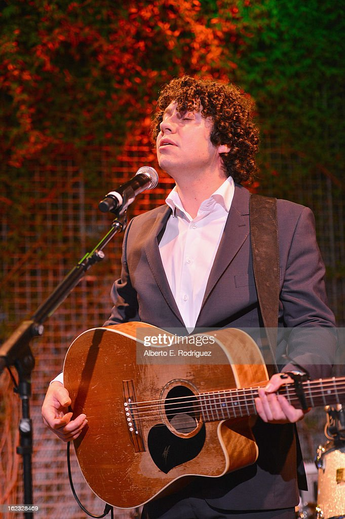 Musician Declan O'Rourke performs during the 8th Annual 'Oscar Wilde: Honoring The Irish In Film' Pre-Academy Awards Event at Bad Robot on February 21, 2013 in Santa Monica, California.