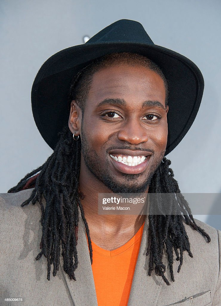 Musician <a gi-track='captionPersonalityLinkClicked' href=/galleries/search?phrase=Delvin+Choice&family=editorial&specificpeople=12505219 ng-click='$event.stopPropagation()'>Delvin Choice</a> arrives at NBC's 'The Voice' Season 6 Top 12 Red Carpet Event at Universal CityWalk on April 15, 2014 in Universal City, California.