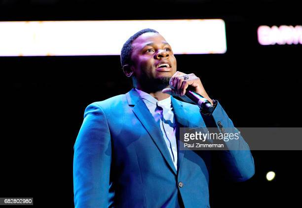 Musician Derek Luke performs onstage during the 35th Anniversary Mother's Day Weekend Gospelfest 2017 at Prudential Center on May 13 2017 in Newark...