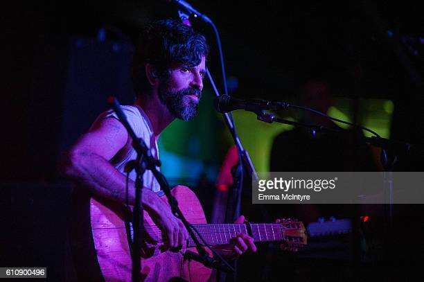 Musician Devendra Banhart performs onstage at Club Bahia on September 27 2016 in Los Angeles California