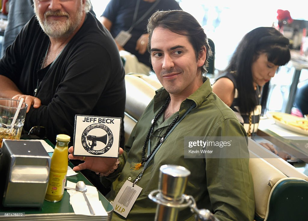 Musician Dhani Harrison attends the celebration of Jeff Beck's new book 'BECK01' at Mel's Dinner on August 8, 2016 in West Hollywood, California.