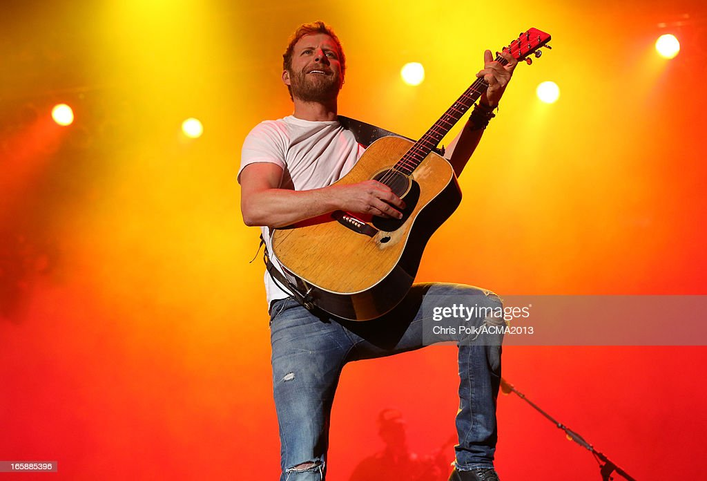 Musician Dierks Bentley performs at the ACM Party For A Cause Festival during the 48th Annual Academy of Country Music Awards at the Orleans Arena on April 6, 2013 in Las Vegas, Nevada.
