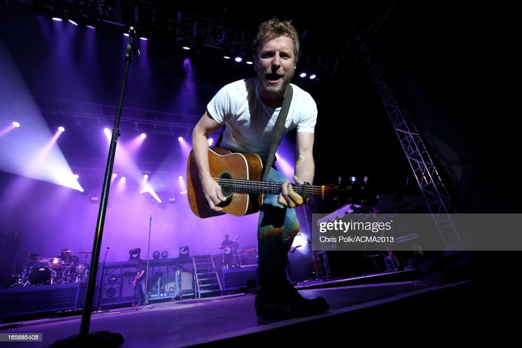 Musician <a gi-track='captionPersonalityLinkClicked' href=/galleries/search?phrase=Dierks+Bentley&family=editorial&specificpeople=243007 ng-click='$event.stopPropagation()'>Dierks Bentley</a> performs at the ACM Party For A Cause Festival during the 48th Annual Academy of Country Music Awards at the Orleans Arena on April 6, 2013 in Las Vegas, Nevada.