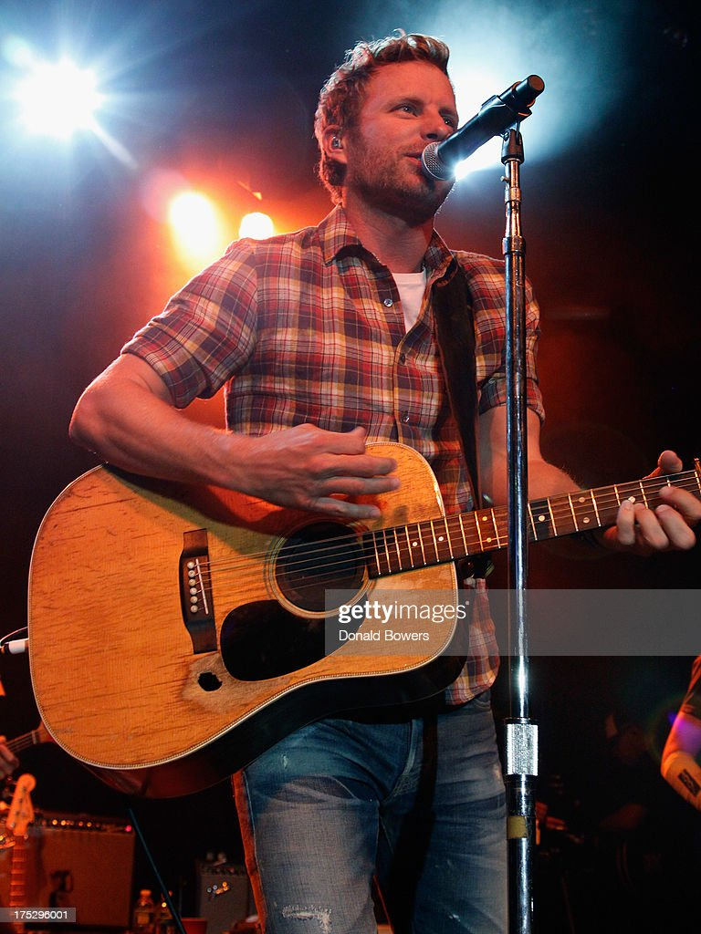 Musician Dierks Bentley performs during Bud Light Music First 50/50/1 featuring Dierks Bentley at Irving Plaza on August 1 2013 in New York City