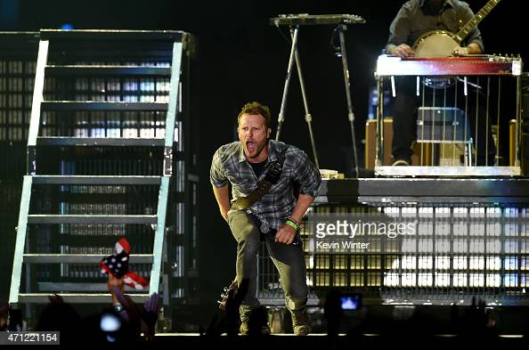 Musician Dierks Bentley performs onstage during day two of 2015 Stagecoach California's Country Music Festival at The Empire Polo Club on April 25...