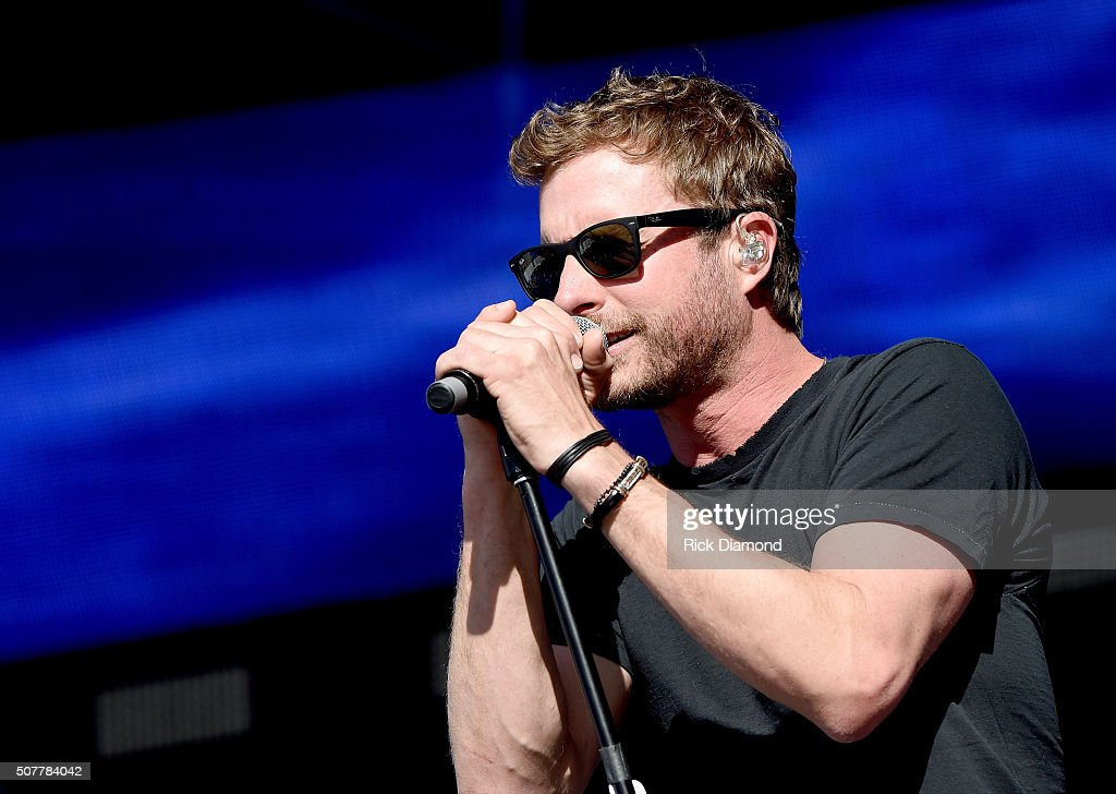 Musician Dierks Bentley performs onstage during NHL AllStar Winter Park Nashville 2016 Day 4 on January 31 2016 in Nashville Tennessee
