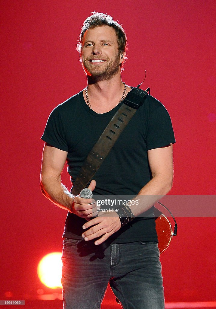Musician Dierks Bentley performs onstage during Tim McGraw's Superstar Summer Night presented by the Academy of Country Music at the MGM Grand Garden...