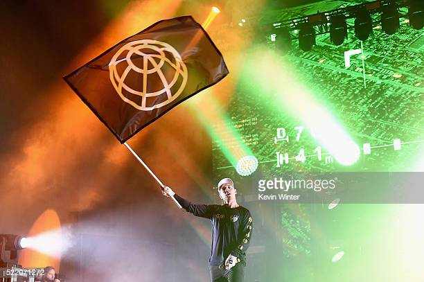 Musician Diplo of Major Lazer performs onstage during day 3 of the 2016 Coachella Valley Music And Arts Festival Weekend 1 at the Empire Polo Club on...