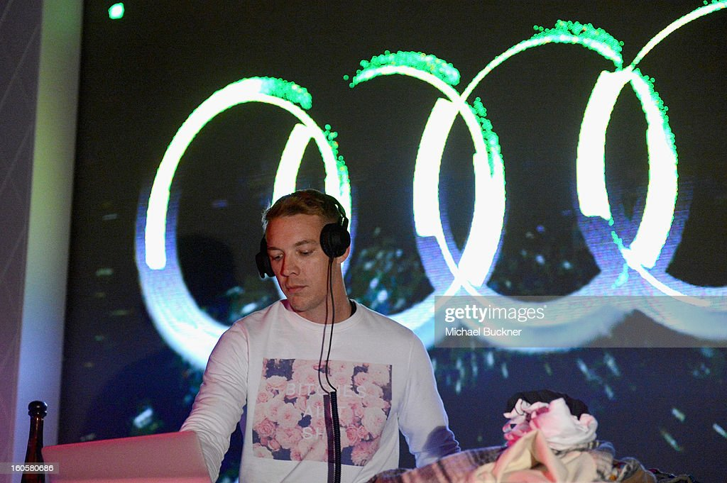 Musician <a gi-track='captionPersonalityLinkClicked' href=/galleries/search?phrase=Diplo&family=editorial&specificpeople=2375691 ng-click='$event.stopPropagation()'>Diplo</a> performs on stage at the Audi Forum New Orleans at the Ogden Museum of Southern Art on February 2, 2013 in New Orleans, Louisiana.