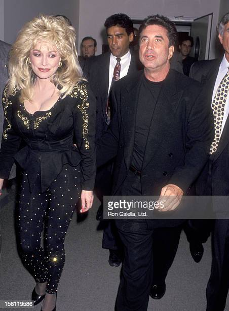 Musician Dolly Parton and Hollywood Manager/Producer Sandy Gallin attend the Grand Opening Celebration and Ribbon Cutting to Unveil the New Sony...