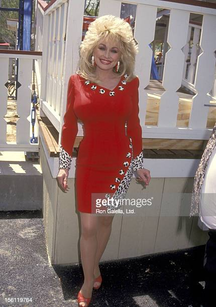 Musician Dolly Parton attends the Opening Weekend Celebration of Dollywood on April 24 1993 at Dollywood in Pigeon Forge Tennessee