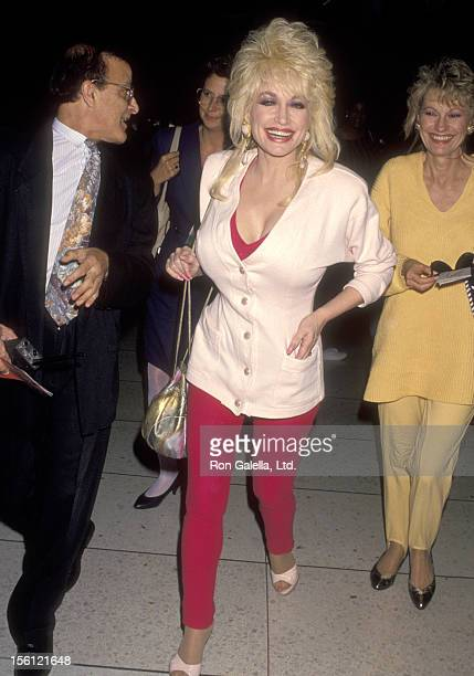 Musician Dolly Parton on October 24 1993 arriving at the Los Angeles International Airport in Los Angeles California