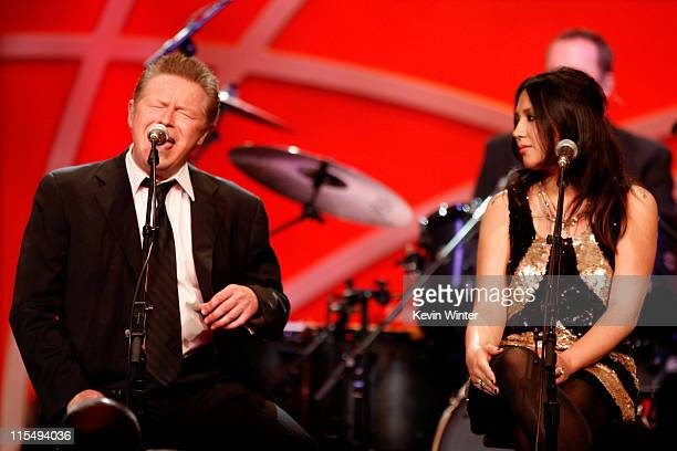 Musician Don Henley of The Eagles and Michelle Branch perform onstage during the 16th Annual Race To Erase MS event cochaired by Nancy Davis and...