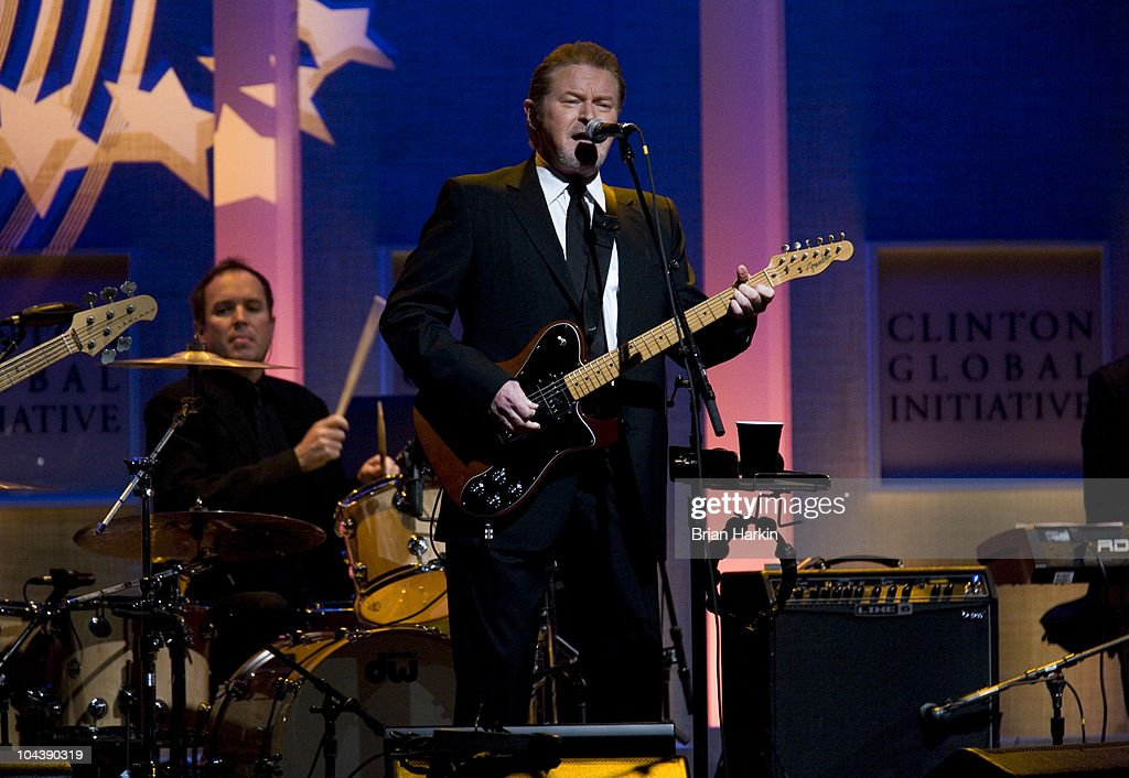 Musician Don Henley performs during the Clinton Global Citizens Awards at the conclusion to the annual Clinton Global Initiative (CGI) on September 23, 2010 in New York City. The sixth annual meeting of the CGI gathers prominent individuals in politics, business, science, academics, religion and entertainment to discuss global issues such as climate change and the reconstruction of Haiti. The event, founded by Clinton after he left office, is held the same week as the General Assembly at the United Nations, when most world leaders are in New York City.