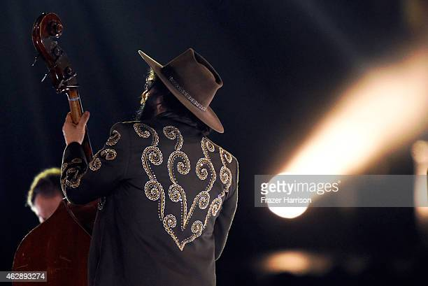 Musician Don Was performs onstage at the 25th anniversary MusiCares 2015 Person Of The Year Gala honoring Bob Dylan at the Los Angeles Convention...