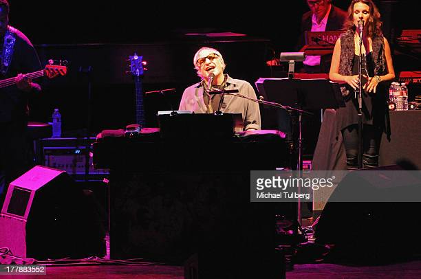 Musician Donald Fagen of Steely Dan performs live at Nokia Theatre LA Live on August 25 2013 in Los Angeles California