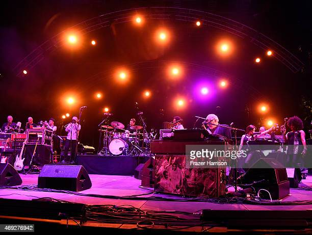 Musician Donald Fagen of Steely Dan performs onstage during day 1 of the 2015 Coachella Valley Music Arts Festival at the Empire Polo Club on April...