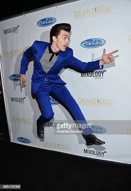 Musician Drake Bell arrives at his 'Ready Steady Go' album release party at Mixology101 Planet Dailies on April 17 2014 in Los Angeles California